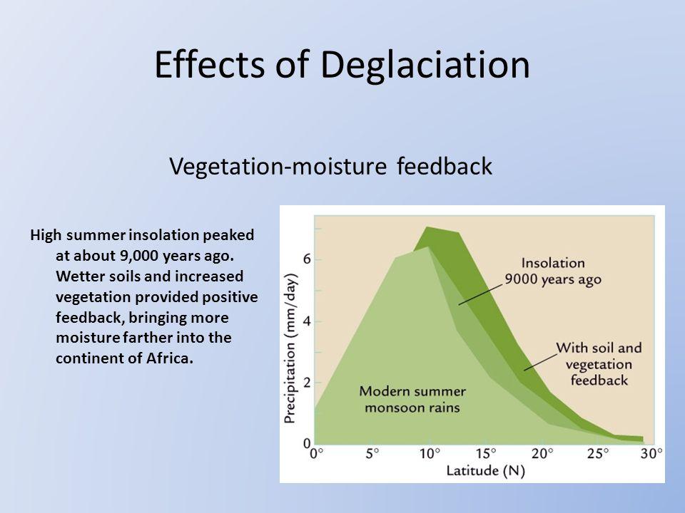 Vegetation-moisture feedback