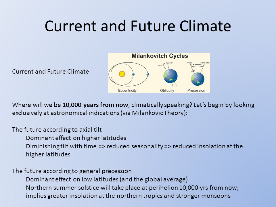 Current and Future Climate