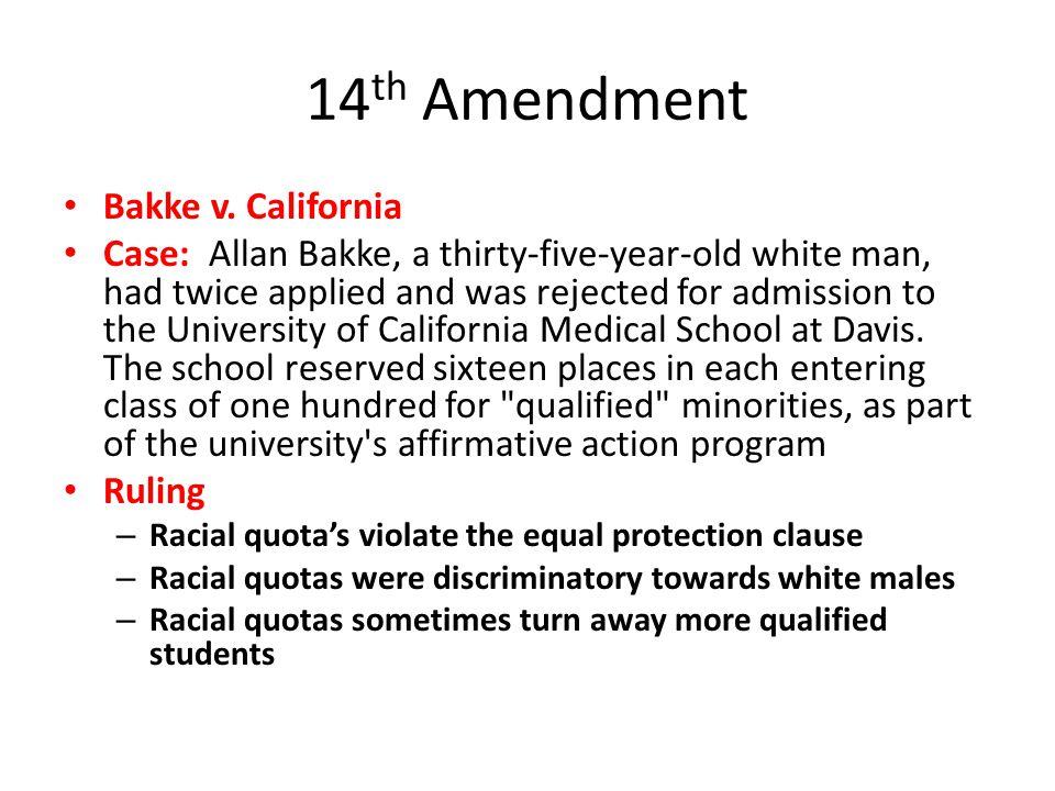 14th Amendment Bakke v. California