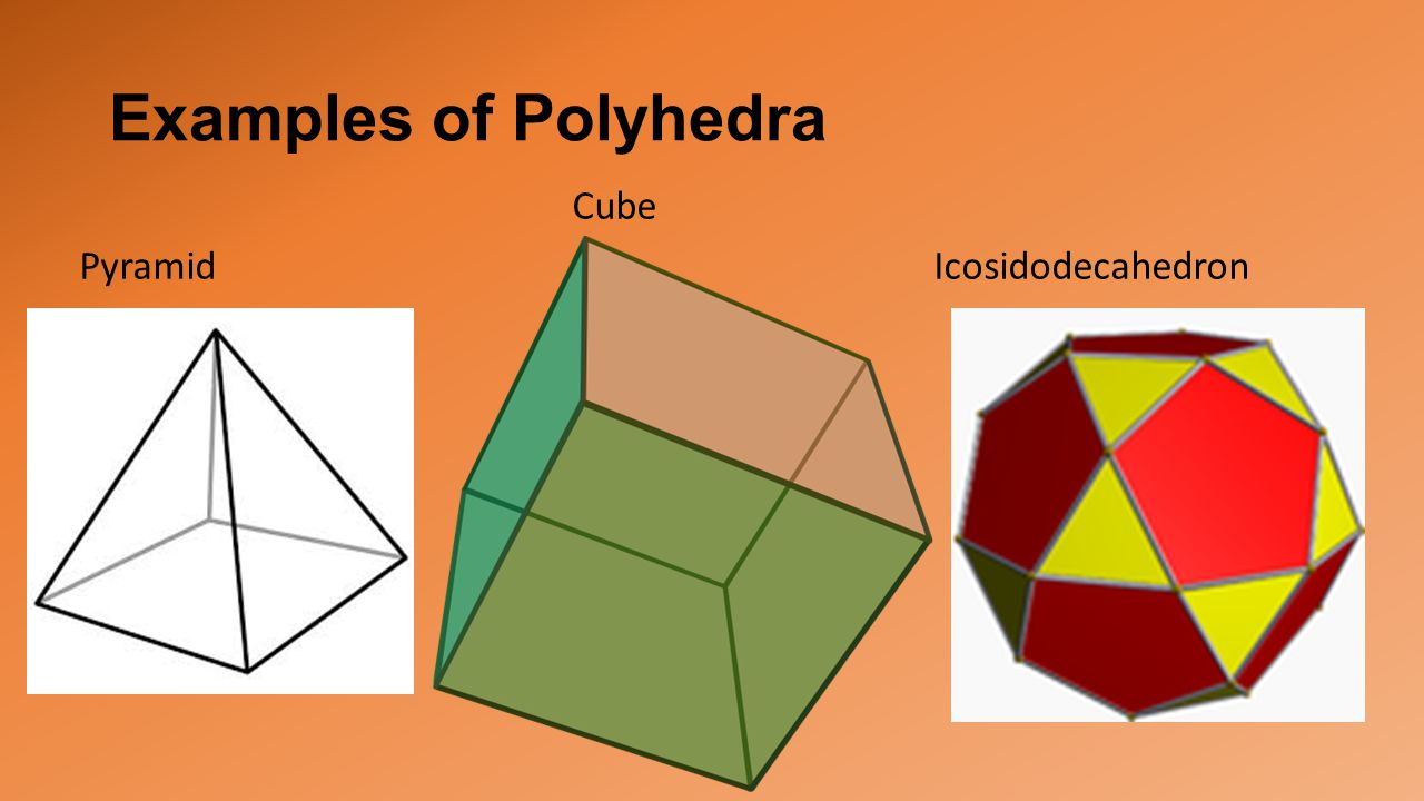 Examples of Polyhedra Cube Pyramid Icosidodecahedron