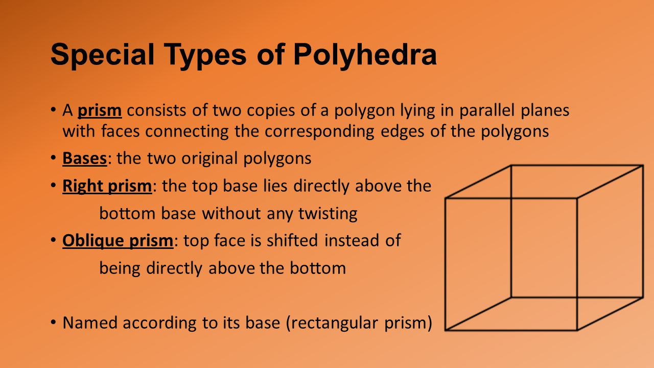 Special Types of Polyhedra