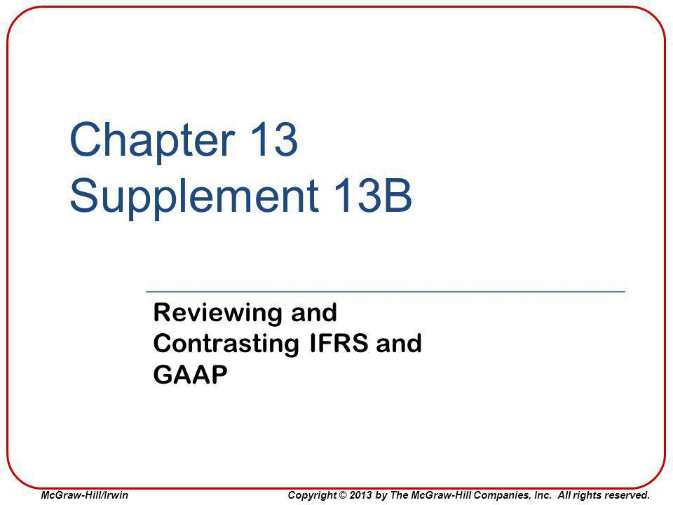 Reviewing and Contrasting IFRS and GAAP