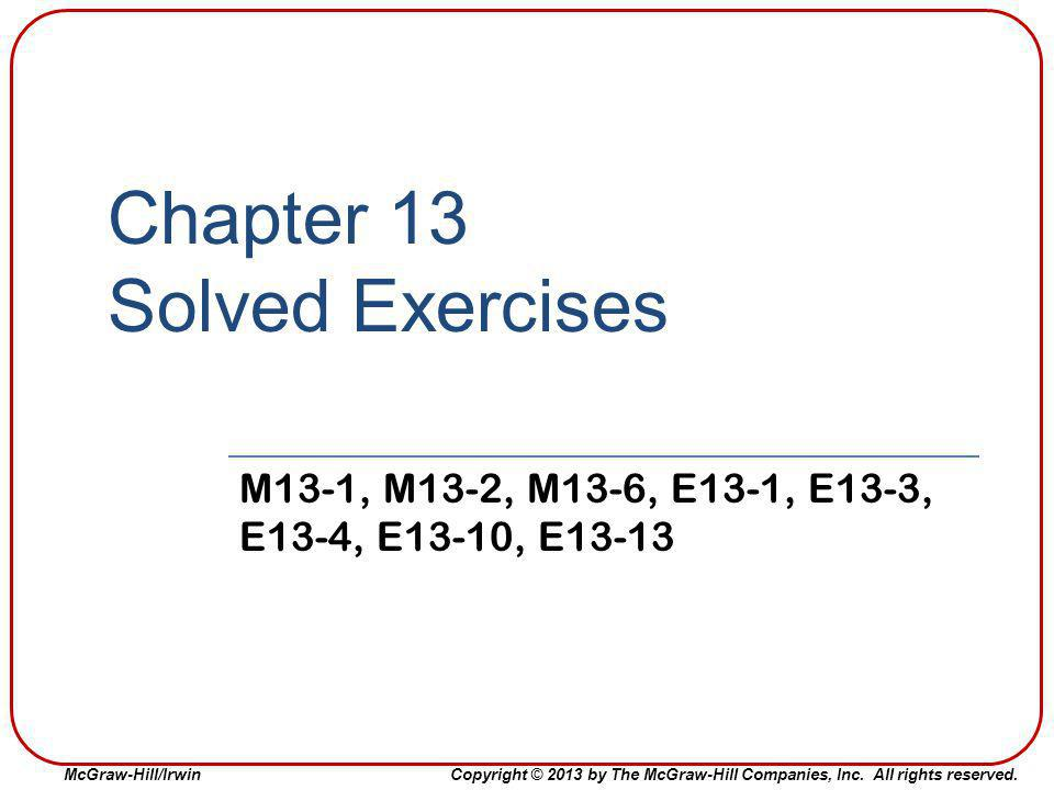 Chapter 13 Solved Exercises
