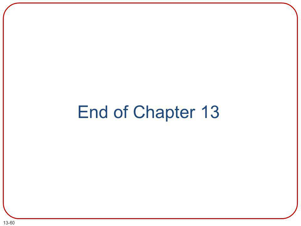 End of Chapter 13 End of chapter 13.