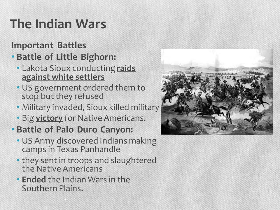 The Indian Wars Important Battles Battle of Little Bighorn: