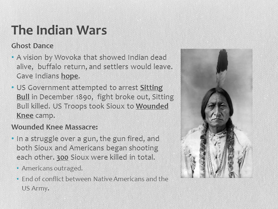 The Indian Wars Ghost Dance