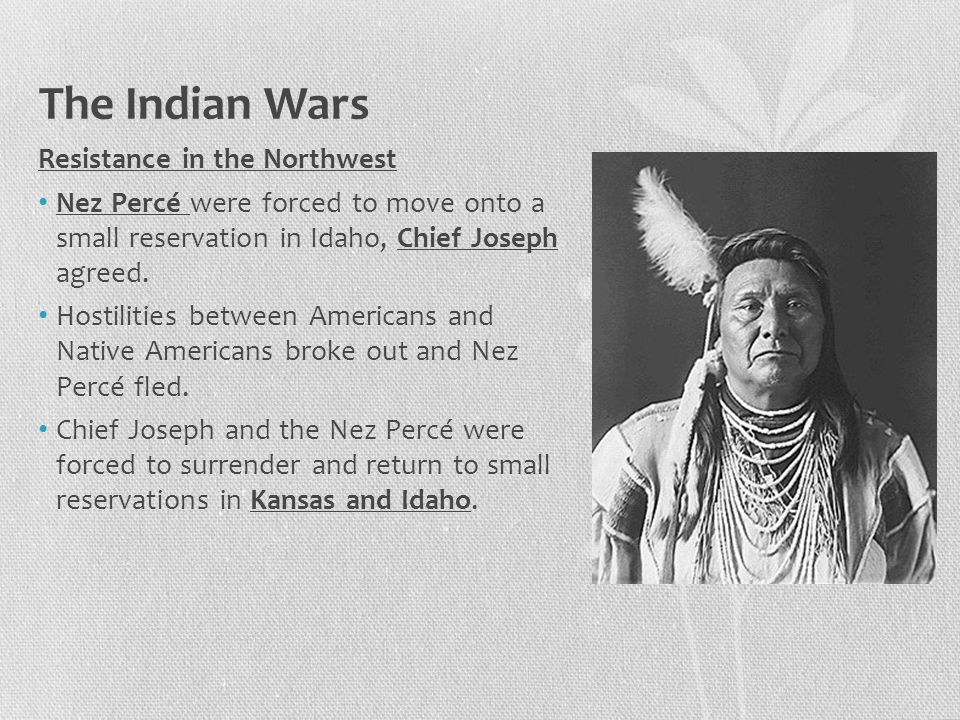 The Indian Wars Resistance in the Northwest