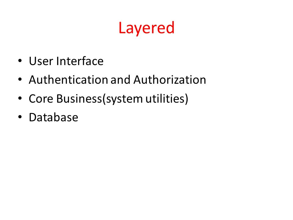 Layered User Interface Authentication and Authorization