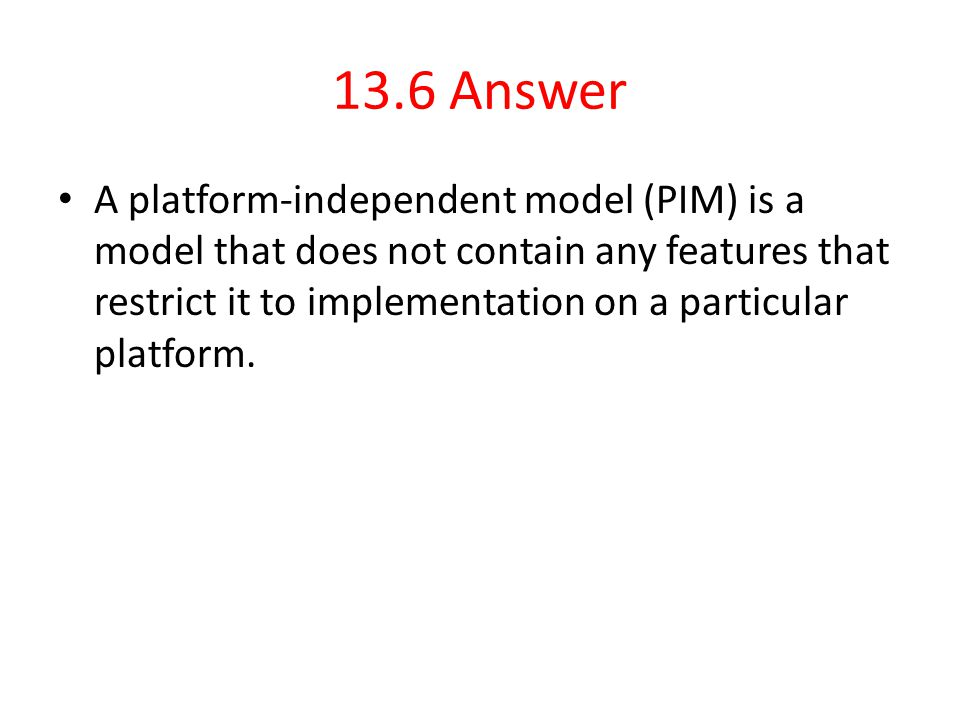 13.6 Answer