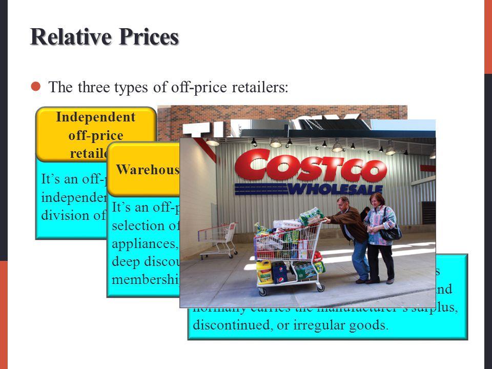 Independent off-price retailers