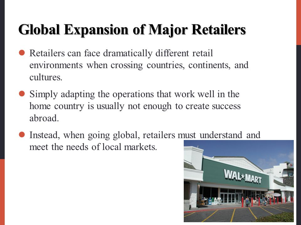 Global Expansion of Major Retailers