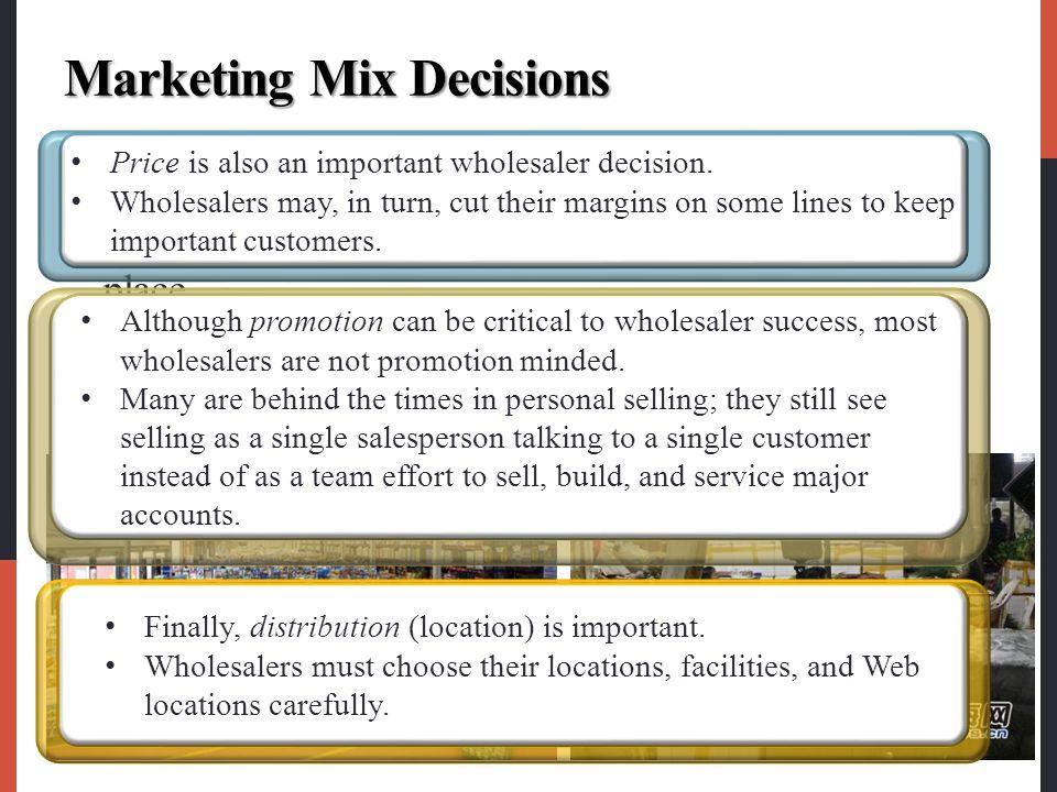 Marketing Mix Decisions