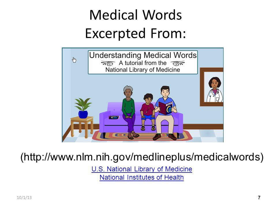 Medical Words Excerpted From: