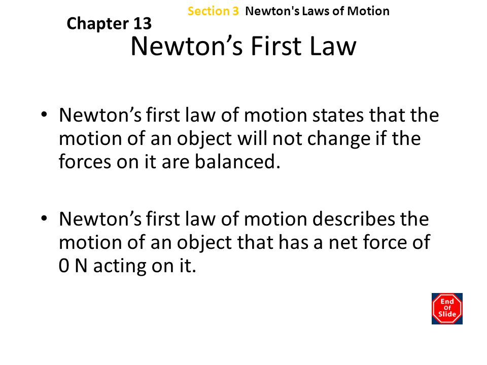 Section 3 Newton s Laws of Motion