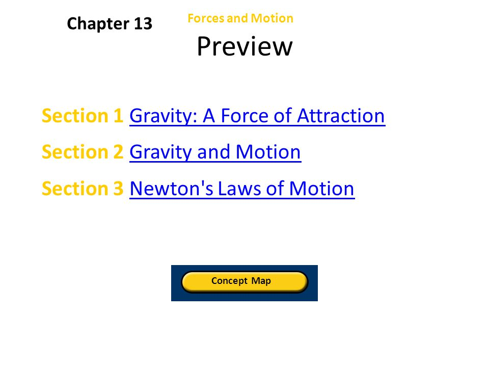 Preview Section 1 Gravity: A Force of Attraction