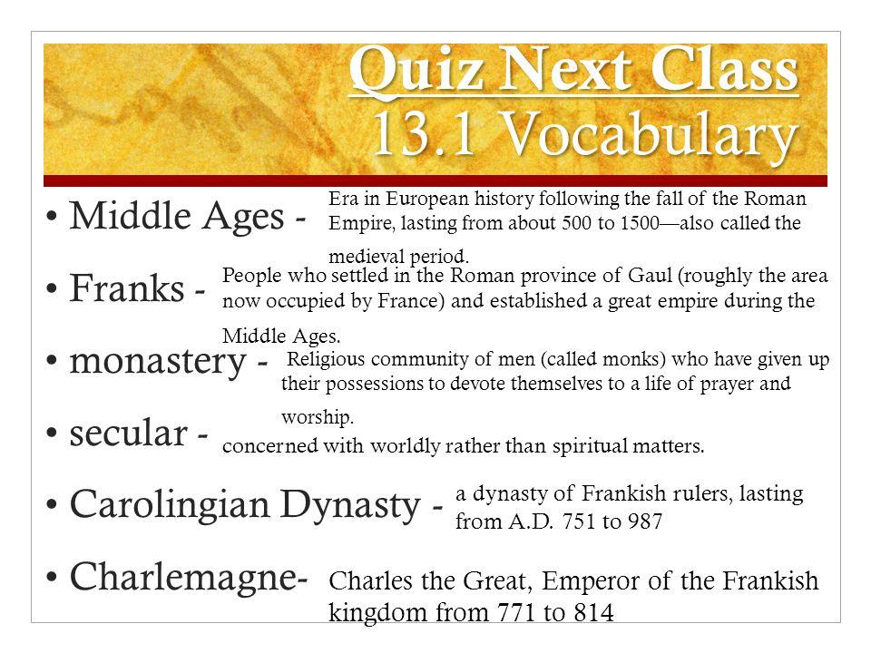 Quiz Next Class 13.1 Vocabulary