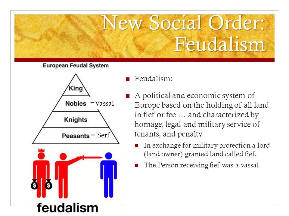 New Social Order: Feudalism