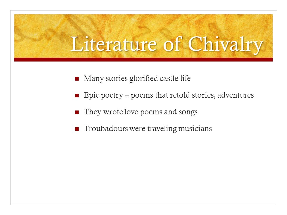 Literature of Chivalry