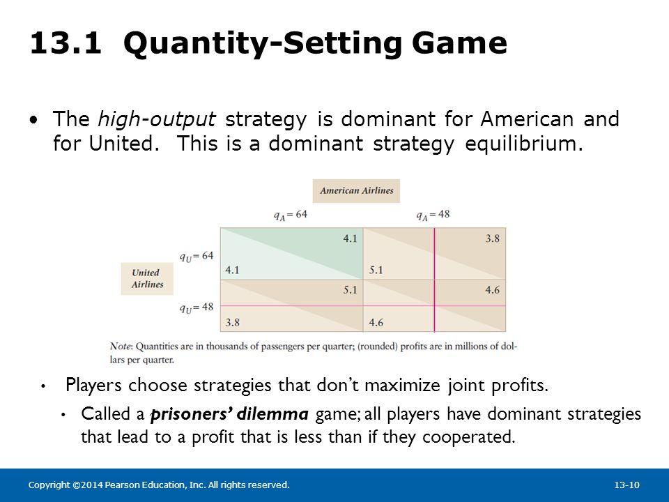 13.1 Quantity-Setting Game