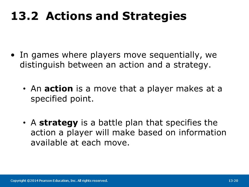 13.2 Actions and Strategies