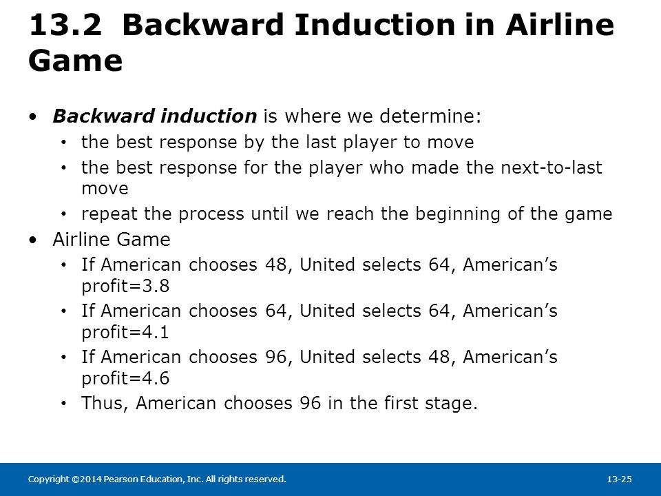 13.2 Backward Induction in Airline Game