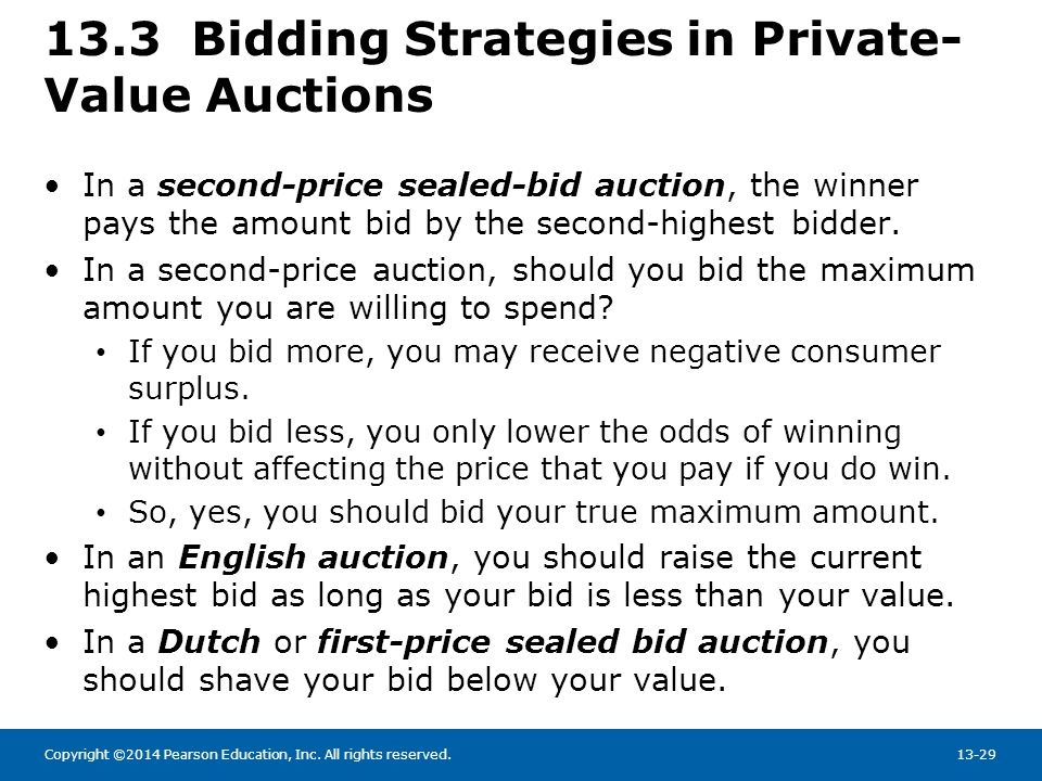 13.3 Bidding Strategies in Private-Value Auctions