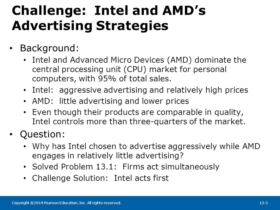 Challenge: Intel and AMD's Advertising Strategies