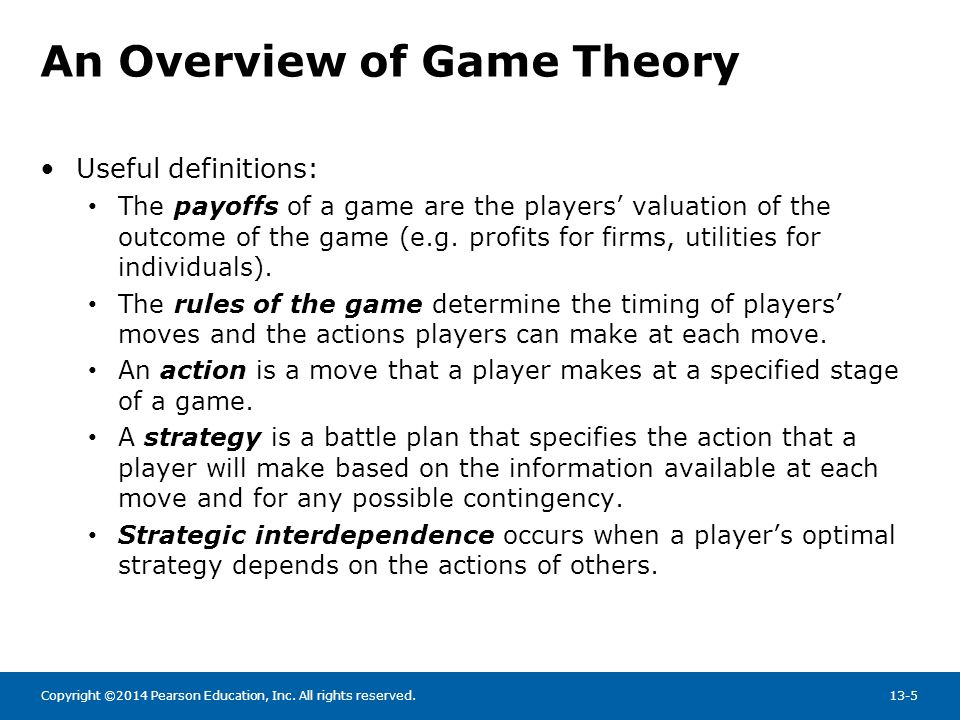 An Overview of Game Theory