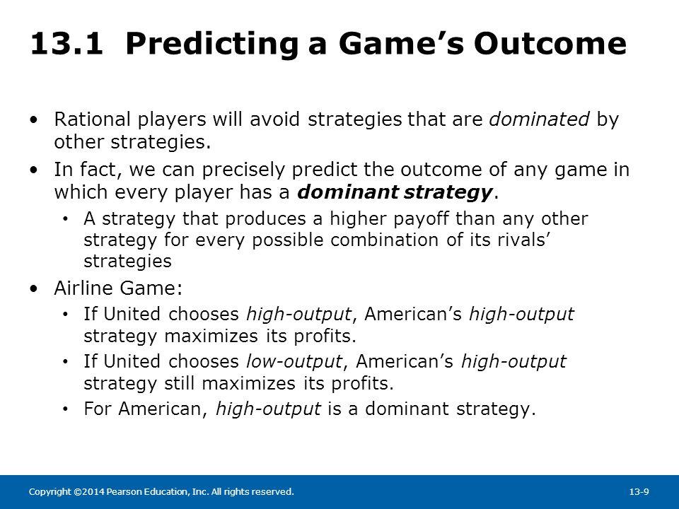 13.1 Predicting a Game's Outcome