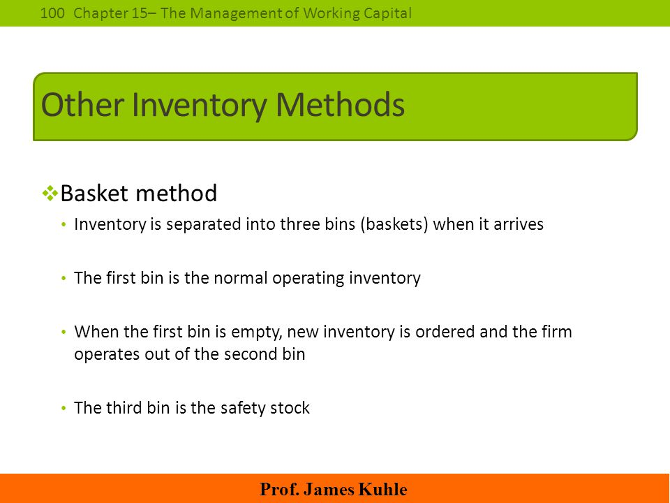 Other Inventory Methods
