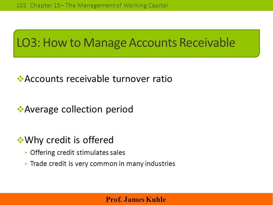 LO3: How to Manage Accounts Receivable