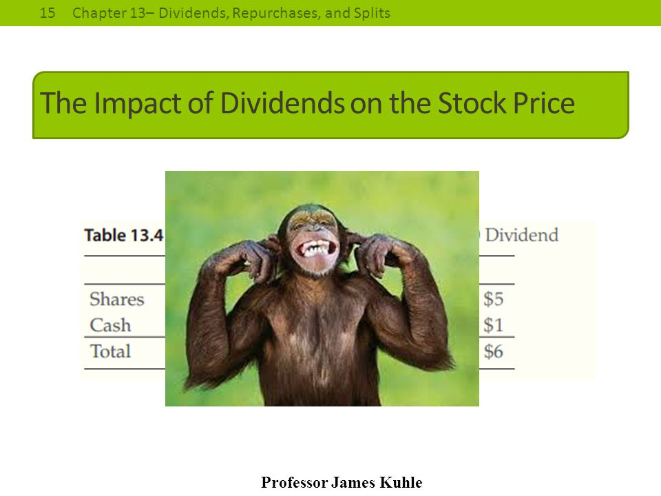The Impact of Dividends on the Stock Price