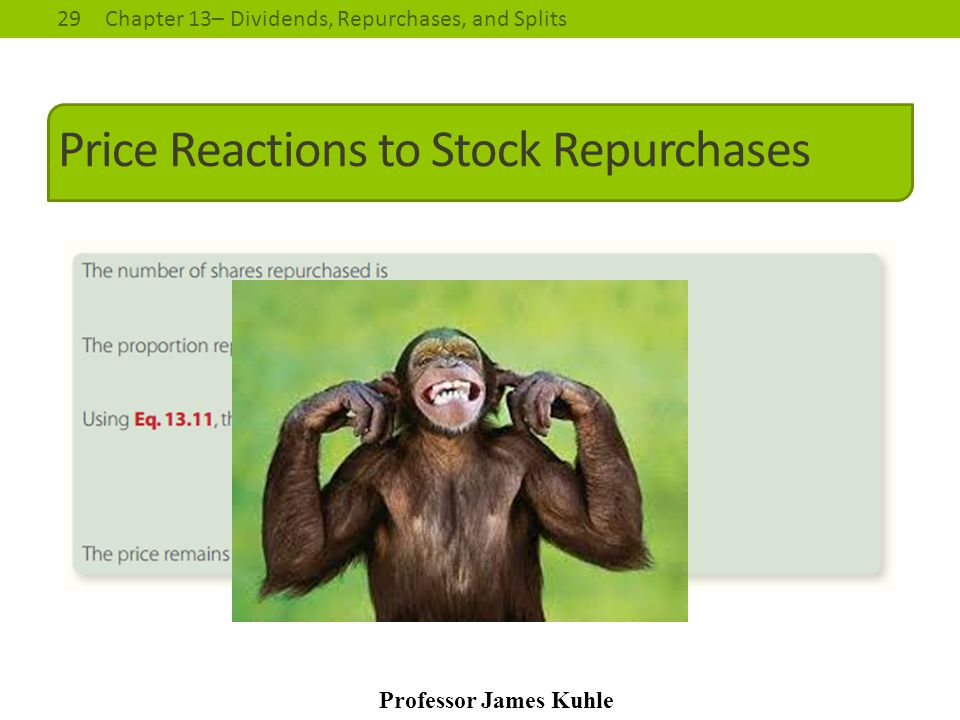 Price Reactions to Stock Repurchases