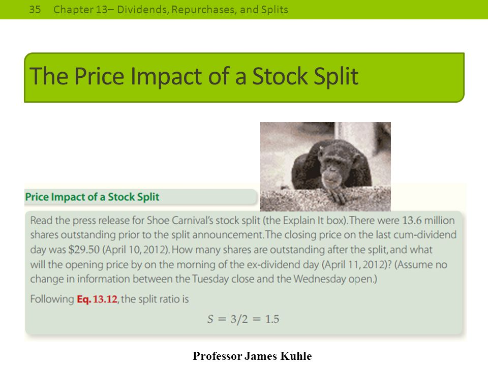The Price Impact of a Stock Split
