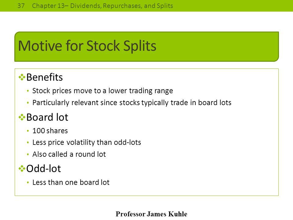 Motive for Stock Splits