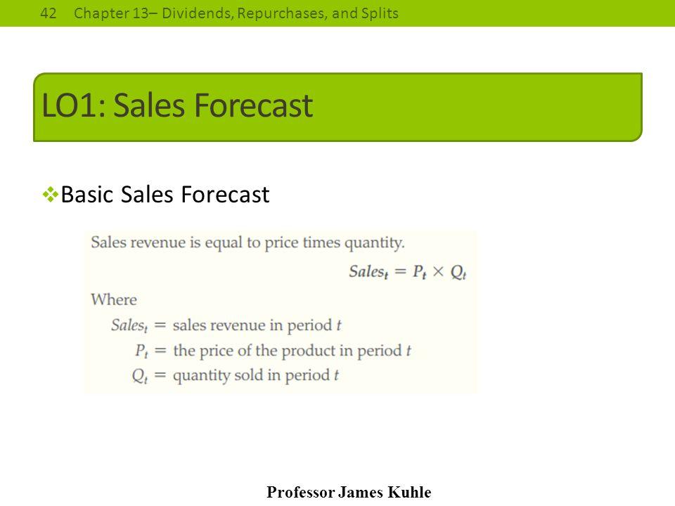 LO1: Sales Forecast Basic Sales Forecast