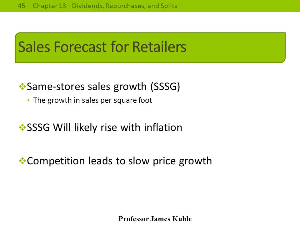 Sales Forecast for Retailers