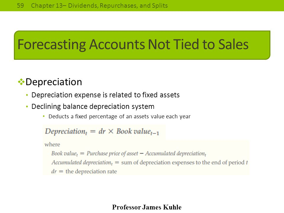 Forecasting Accounts Not Tied to Sales