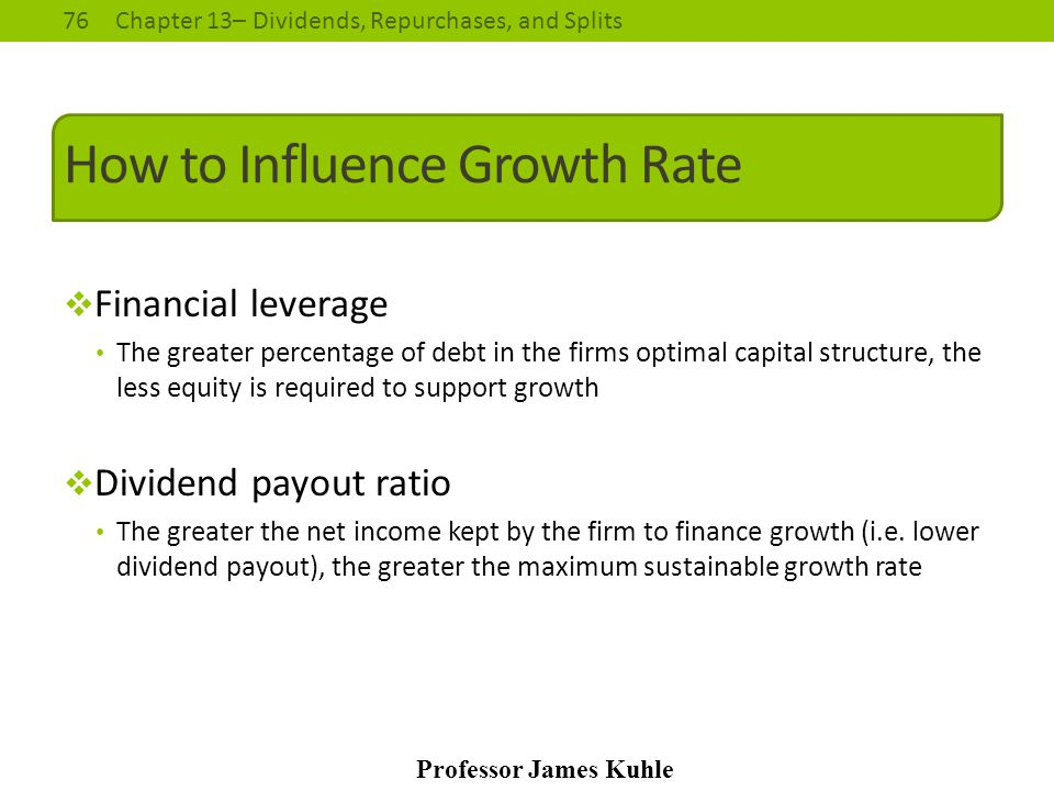 How to Influence Growth Rate