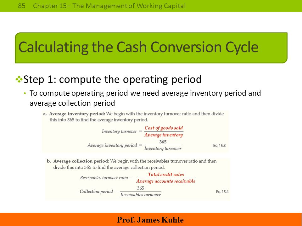 Calculating the Cash Conversion Cycle