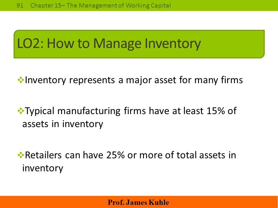 LO2: How to Manage Inventory