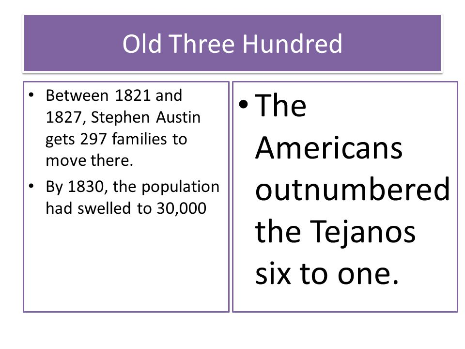The Americans outnumbered the Tejanos six to one.