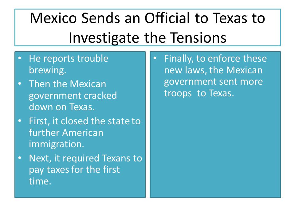 Mexico Sends an Official to Texas to Investigate the Tensions
