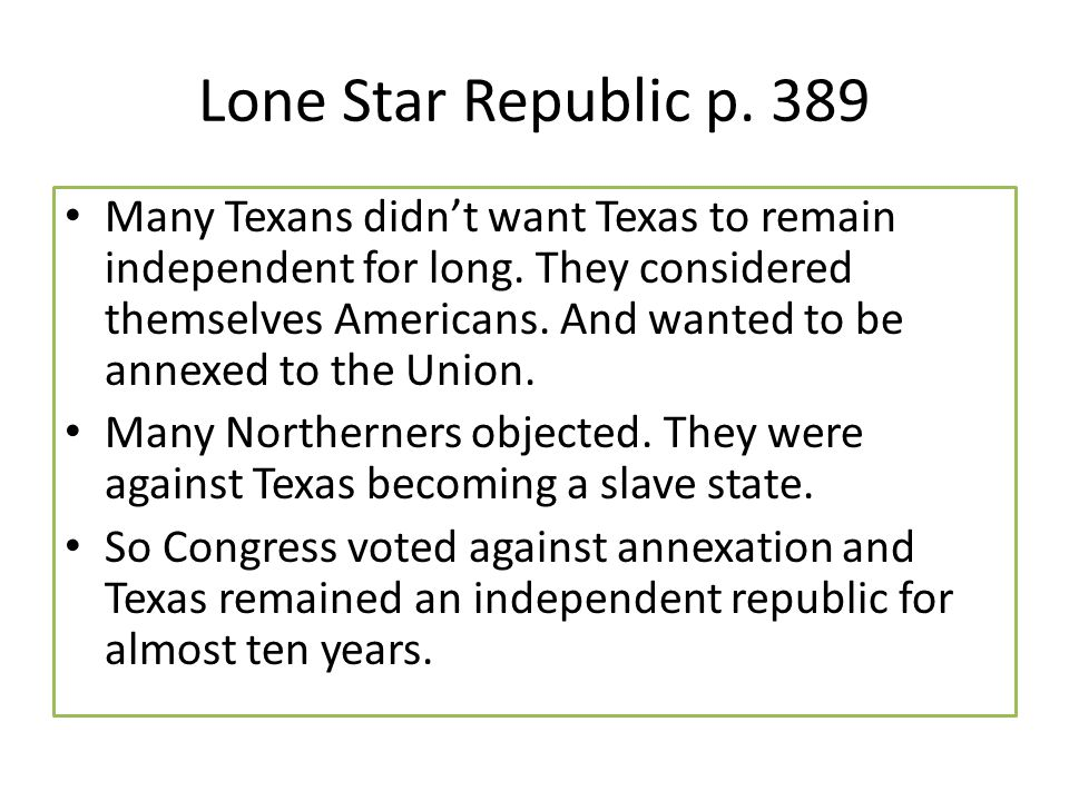 Lone Star Republic p. 389