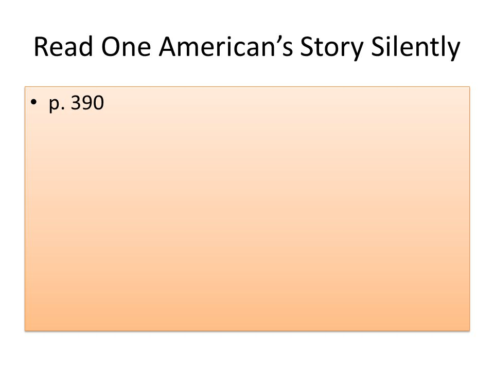 Read One American's Story Silently