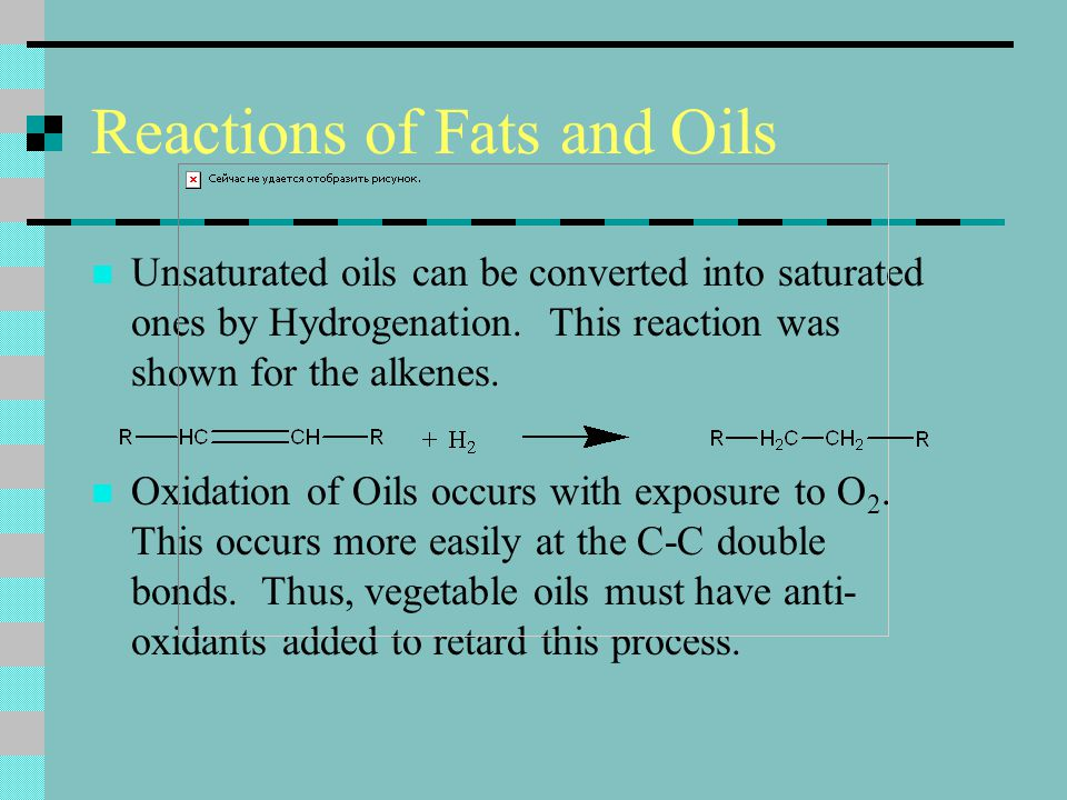 Reactions of Fats and Oils