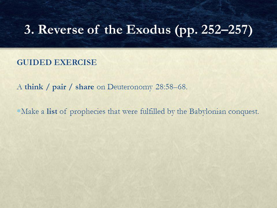 3. Reverse of the Exodus (pp. 252–257)