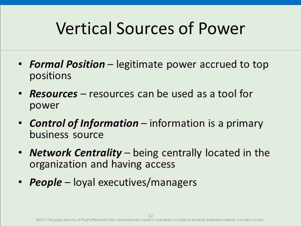 Vertical Sources of Power