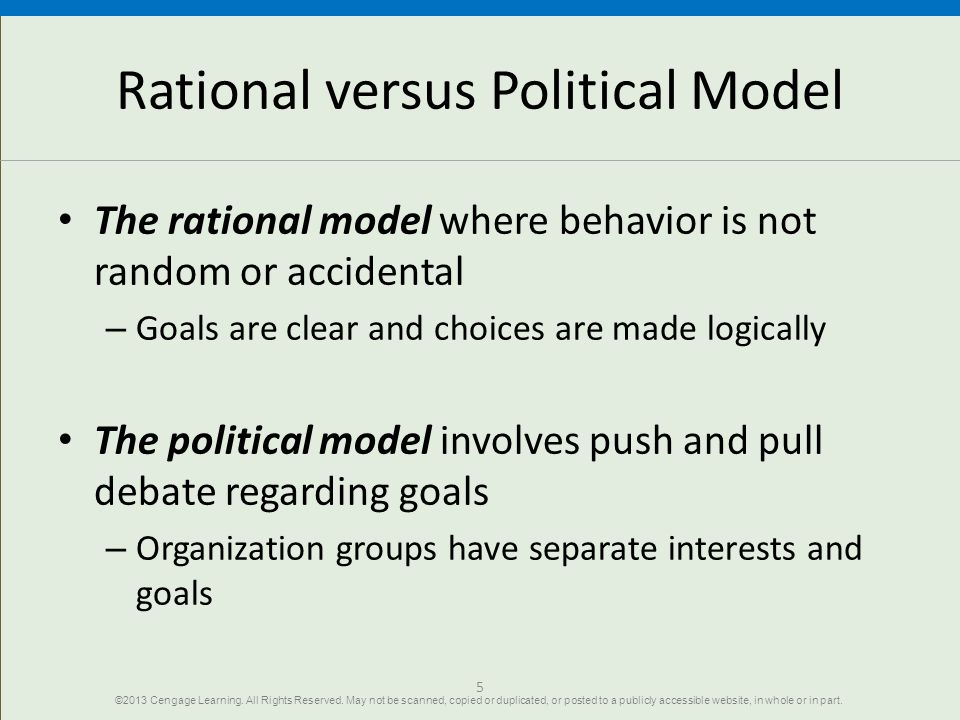 Rational versus Political Model