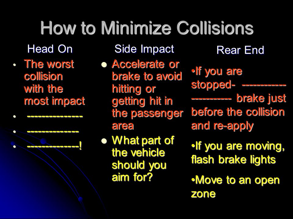 How to Minimize Collisions